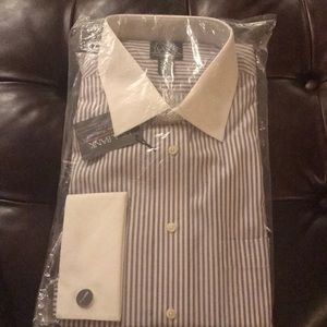 Brand new Jos a Bank stripe dress shirt 17 1/2 34